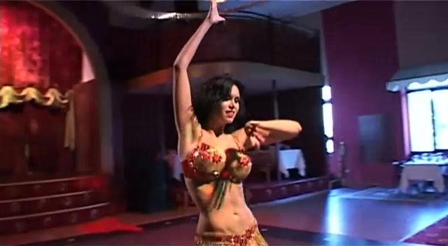Sexy topless belly dancers