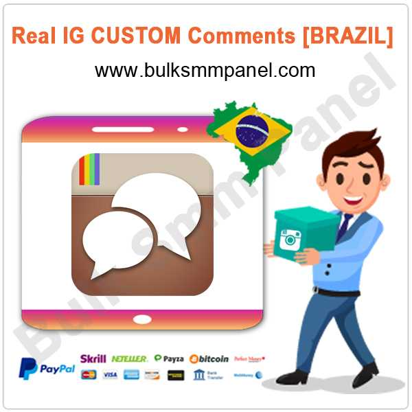 Buy custom instagram comments paypal