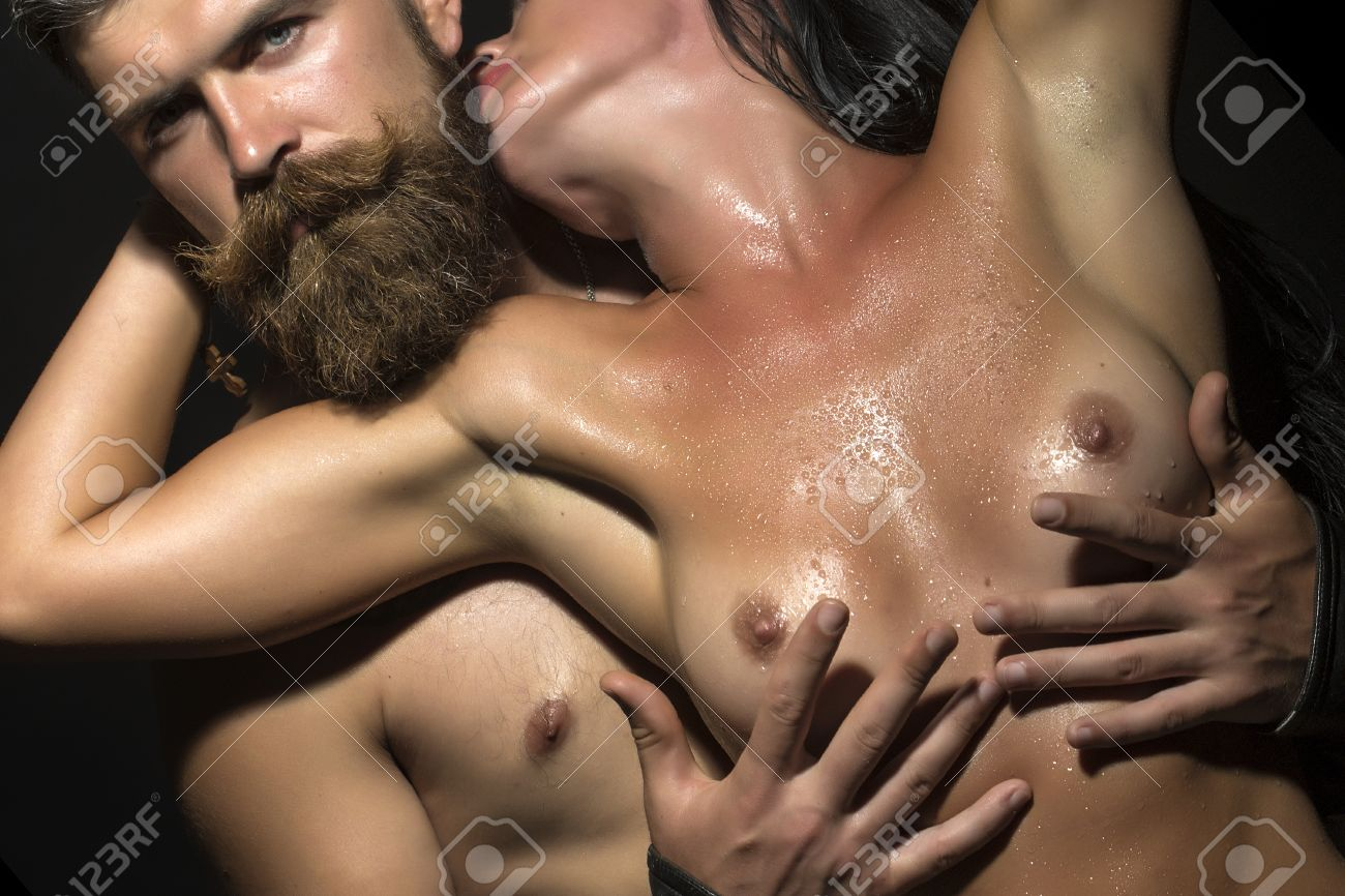 Nude brest tuching image
