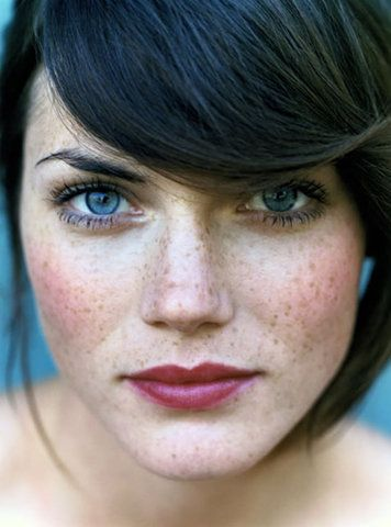 Soft lips freckles young